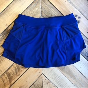 Athleta  double layer skort running blue small